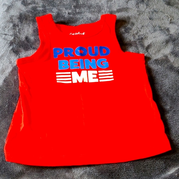 Red proud being me tank top